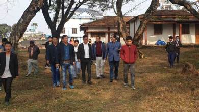 Itanagar:  IMC Corporater Gyamar Taz visits Govt School,  discussed school pathetic condition