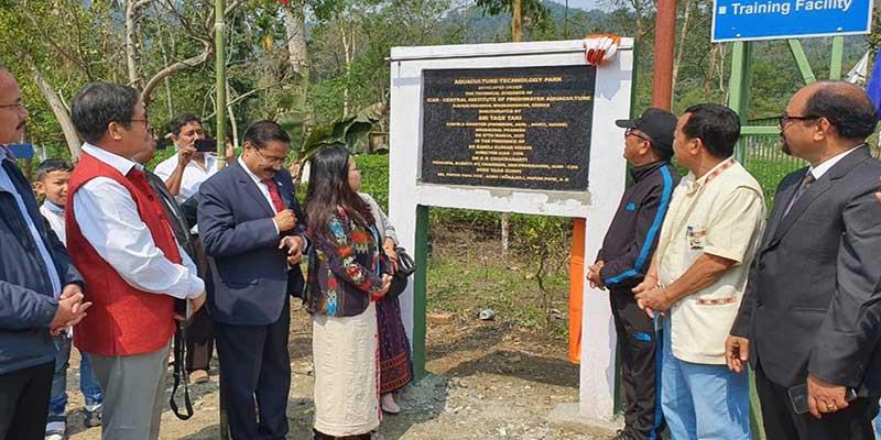 Arunachal: Tage Taki inauguratesAquaculture Technology Park at Sonajuli
