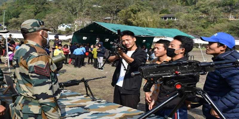 Arunachal:Army weapon & equipment displayed in Anjaw