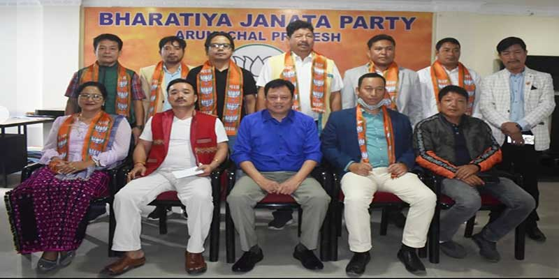 Itanagar: Several JDU's former leaders join BJP