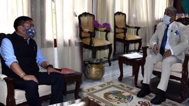 Arunachal: CM Pema Khandu calls on the Governor BD Mishra