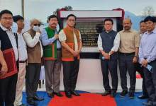 Taba Tedir lays foundation stone of academic block-A of Arunachal University