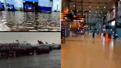New Delhi: IG international airport turns into swimming pool