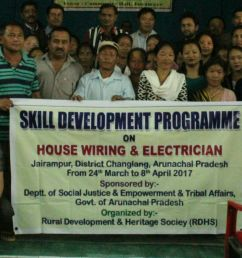 jairampur mar 25 local mla laisam simai after inaugurating a two week house wiring electrician training here today exhorted 35 local youths  [ 1280 x 796 Pixel ]
