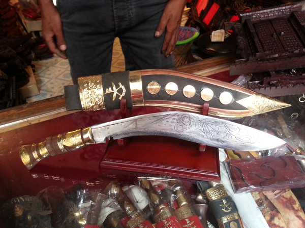 "One momento I had to bring back home! The Nepali Khukuri that the brave Gurkha's carry!  It may or may not be the real deal but I am content just to share the story with my family with pride!     From Wikipedia, the free encyclopedia:   The former Indian Army Chief of Staff Field Marshal Sam Manekshaw, once stated that[6] ""If a man says he is not afraid of dying, he is either lying or is a Gurkha."" Naturally warlike and aggressive in battle; to possess qualities of courage, loyalty, self-sufficiency, physical strength, resilience, orderliness; to be able to work hard for long periods of time; and to fight with tenacity and military strength. Professor Sir Ralph Lilley Turner, MC, who served with the 3rd Queen Alexandra's Own Gurkha Rifles in the First World War, wrote of Gurkhas: ""As I write these last words, my thoughts return to you who were my comrades, the stubborn and indomitable peasants of Nepal. Once more I hear the laughter with which you greeted every hardship. Once more I see you in your bivouacs or about your fires, on forced march or in the trenches, now shivering with wet and cold, now scorched by a pitiless and burning sun. Uncomplaining you endure hunger and thirst and wounds; and at the last your unwavering lines disappear into the smoke and wrath of battle. Bravest of the brave most generous of the generous, never had country more faithful friends than you."""