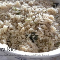 Jeera Rice - Cumin Tempered Rice Recipe (Pressure Cooker Method)