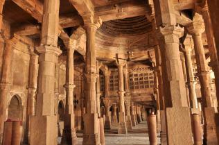 Inside the prayer hall of Jami Masjud