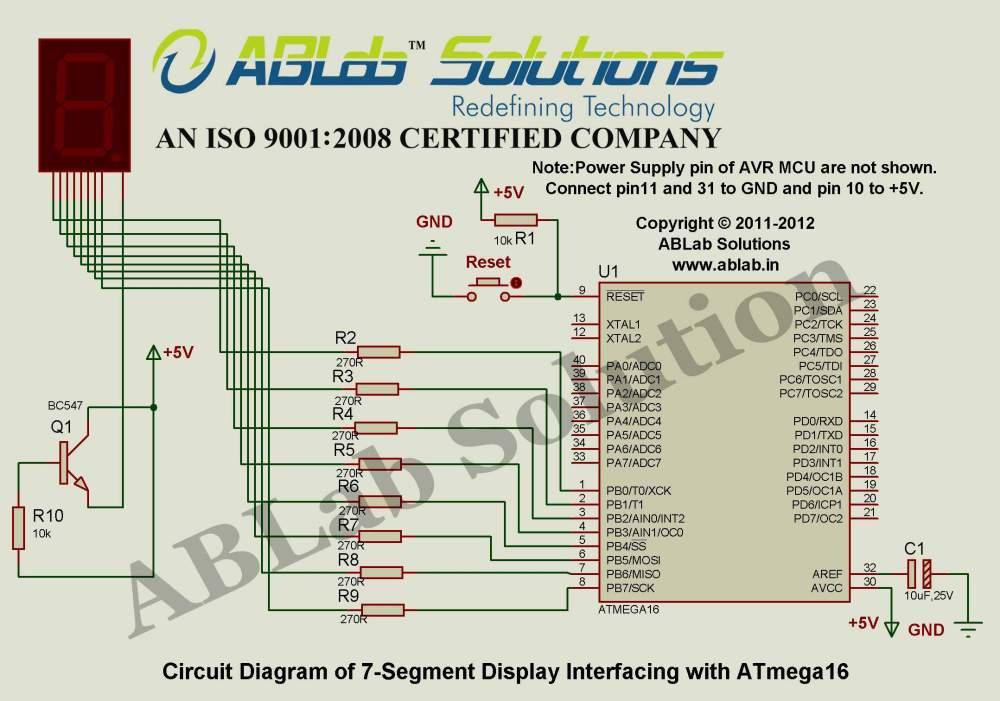 medium resolution of 7 segment display interfacing with avr atmega16 microcontroller circuit diagram ablab