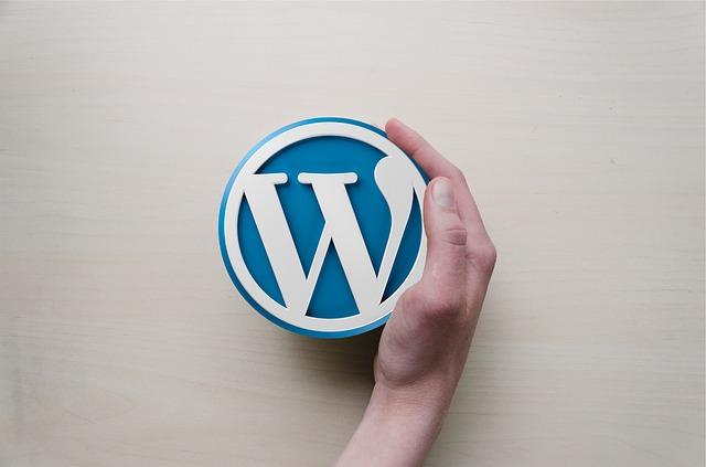 Wordpress image with hand