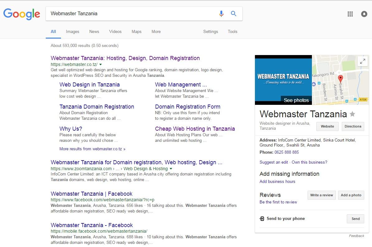 SEO Tanzania with Webmaster Tanzania