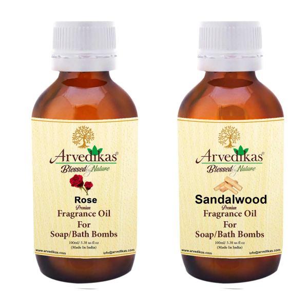 Sandalwood & Rose Fragrance Oil for Soap Making