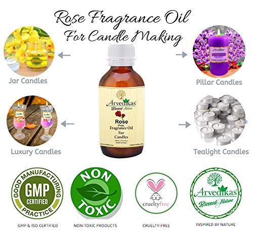 Rose-Vanilla-Spearmint Fragrance Oil For Candle Making