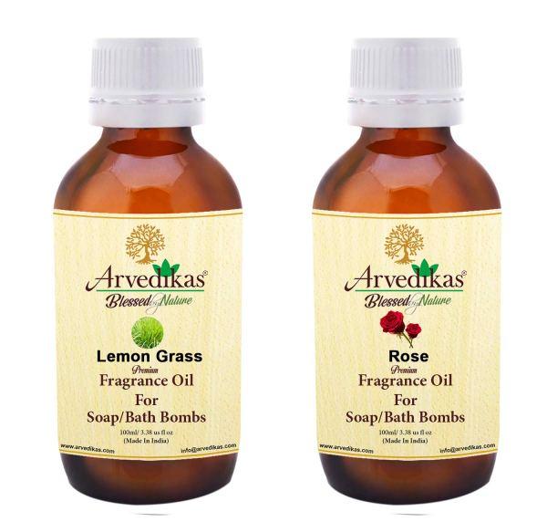 Lemon Grass & Rose Fragrance Oil for Soap Making