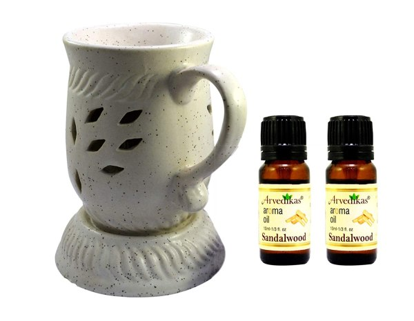 Electric Diffuser, Ceramic Oil Burner, Complimentary Light Bulb and Aroma Oil