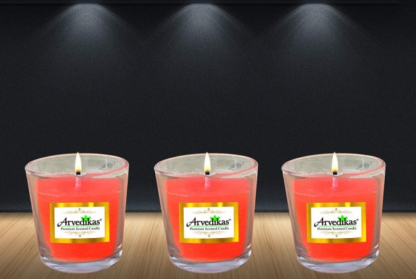 Scented Rose Candles