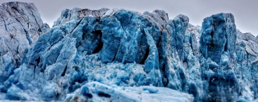 Glacier ice (Photo: Ann E. Lennert).