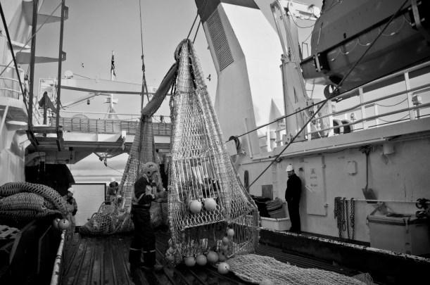 Research trawl (Photo: Valentina Lanci).