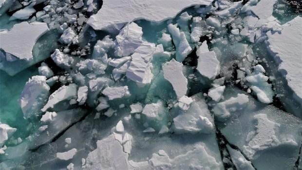 Ice of the Barents Sea (Photo: Ingrid Weidmann).