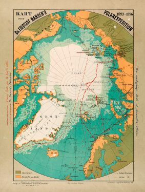 Map over Nansens Polar Expedition (Illustration: Archive).