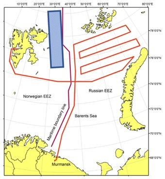 Map of the cruise route
