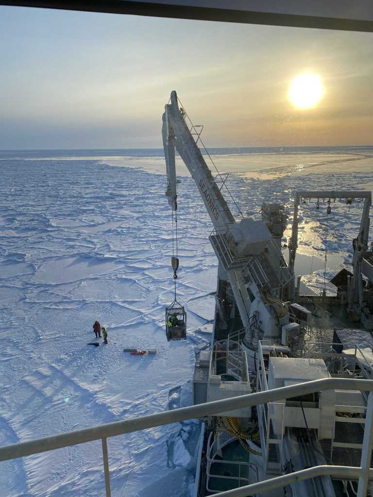 First ice station. Photo Nadjejda Espinel, NPI