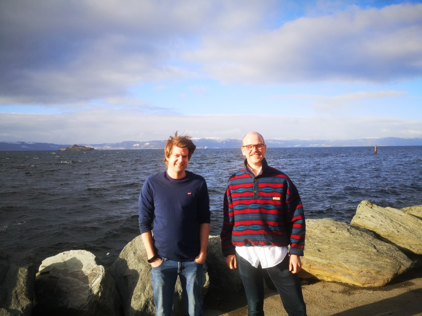 Nansen Legacy early career scientists Petter Norgren (left) and Tore Mo-Bjørkelund (right) from the Norwegian University of Science and Technology started Skarv Technologies AS, a company delivering software- and hardware solutions for marine autonomous robotic systems.