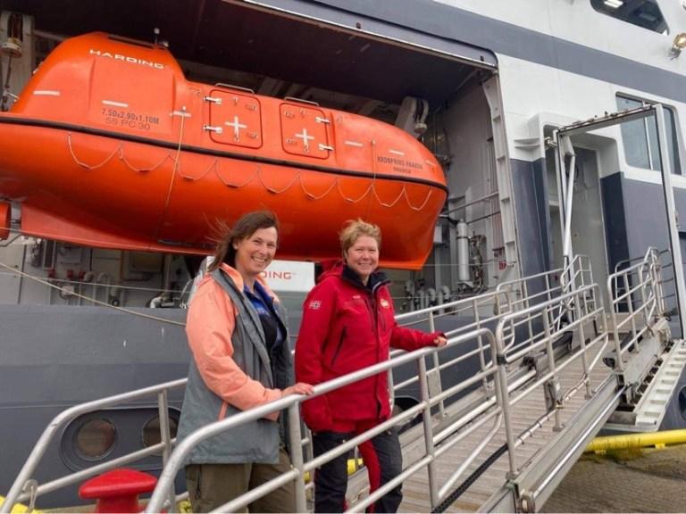 Bodil Bluhm & Agneta Fransson ready for cruise JC2-2