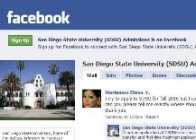 Follow SDSU Admissions on Facebook