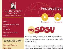 mySDSU Sign-up page