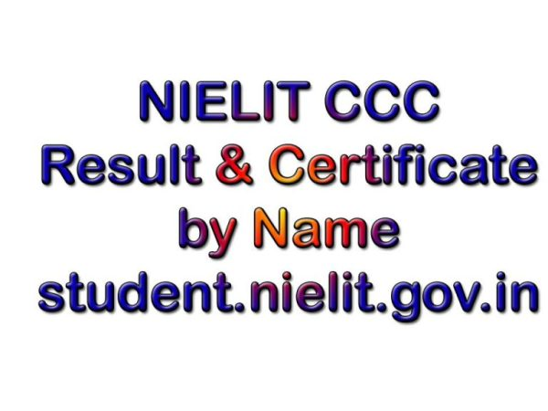 Nielit CCC Result December 2020 By Name & Certificate Download