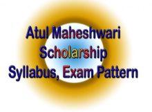Atul Maheshwari Chhatravritti Yojna Syllabus 2021 Model Paper, Exam Pattern
