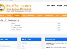 hindu college moradabad merit list