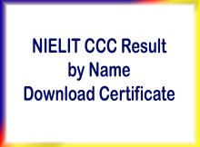 nielit ccc result by name certificate download