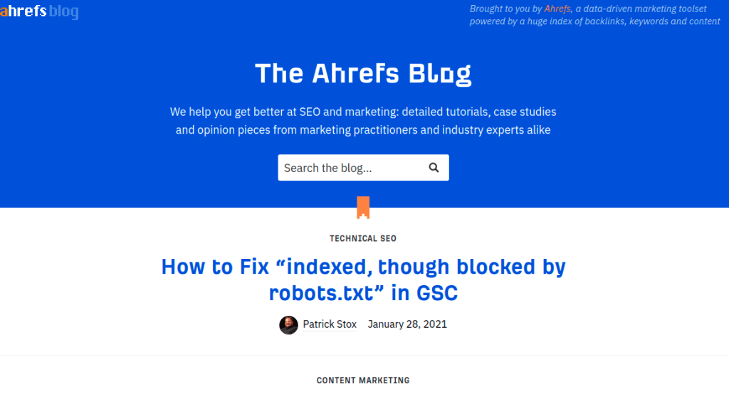Ahref Digital Marketing Blog