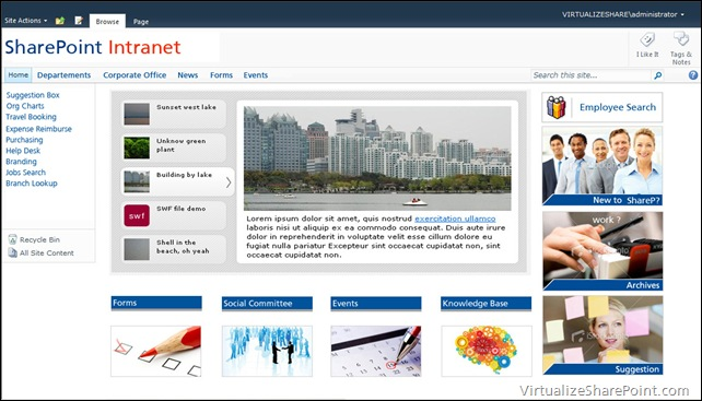 sharepoint 2013 intranet themes