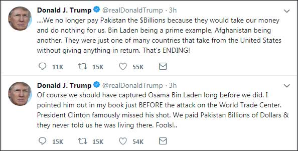Trump writes letter to PM Imran