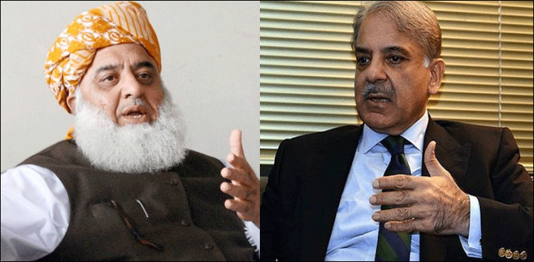 Photo of Maulana Fazl seeks Shehbaz's help for sit-in protest, assembly underway