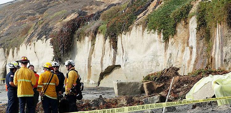 Photo of Three lifeless as sea cliff falls on beachgoers