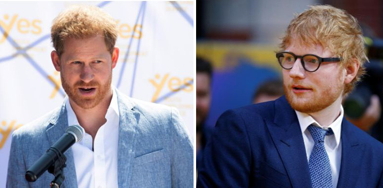 Photo of Ed Sheeran and Prince Harry promote psychological well being