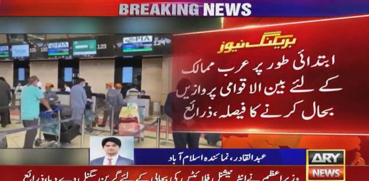 Photo of Imran Khan gives green signal to resume international flight operations