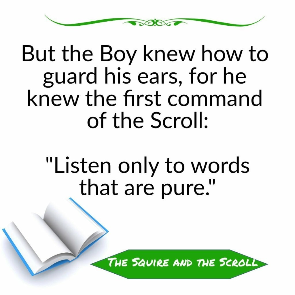 Christian Allegories: Quote from the squire and the scroll