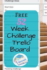 Free 52 week challenge trello board