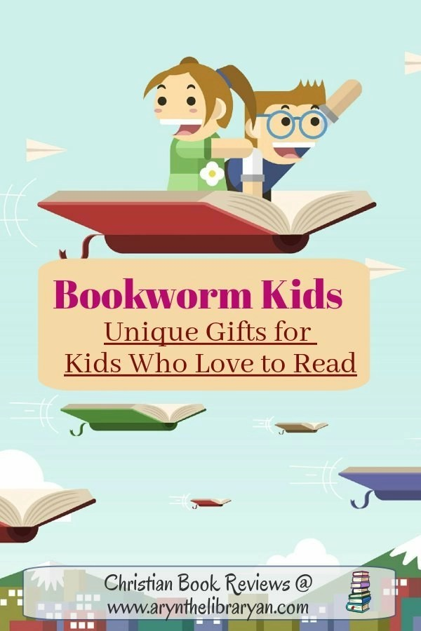 Bookworm Kids: Unique gifts for kids who love to read (Picture of kids flying on a book)