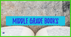 Open book on grunge background: Middle grade books