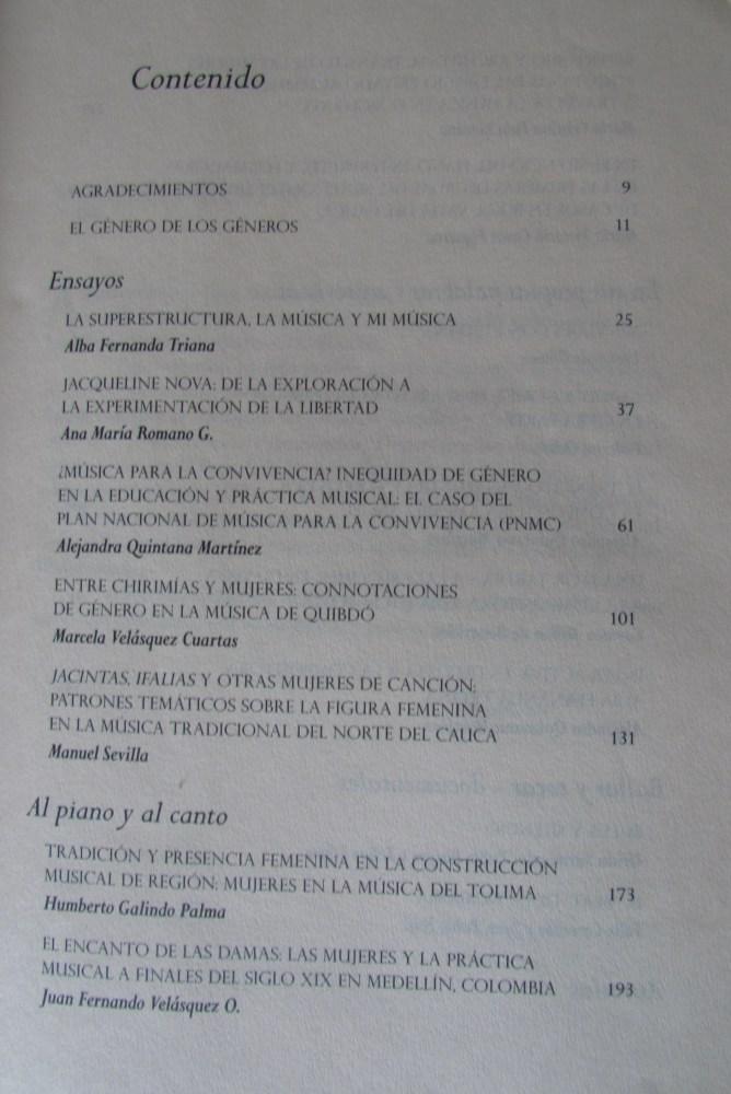 """""""Música de mujeres en Colombia. El género de los géneros"""" – 2012 (2/2)"""