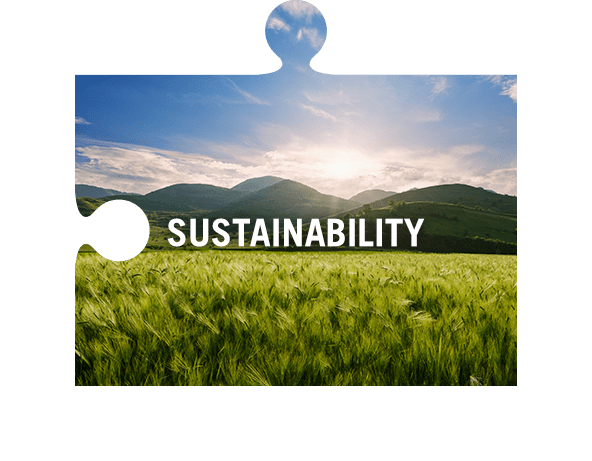 Sustainability jigsaw piece