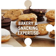 Bakery and snacking expertise jigsaw piece