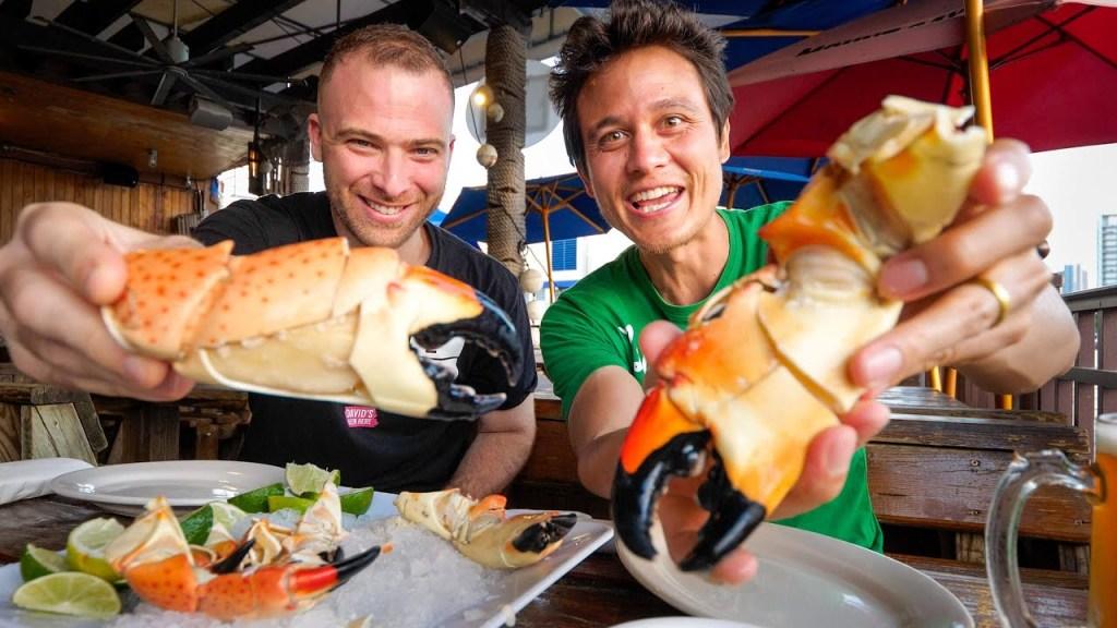Read more about the article COLOSSAL Crab Claws!! 🦀 Ultimate MIAMI FOOD TOUR – Florida, USA (Part 2)