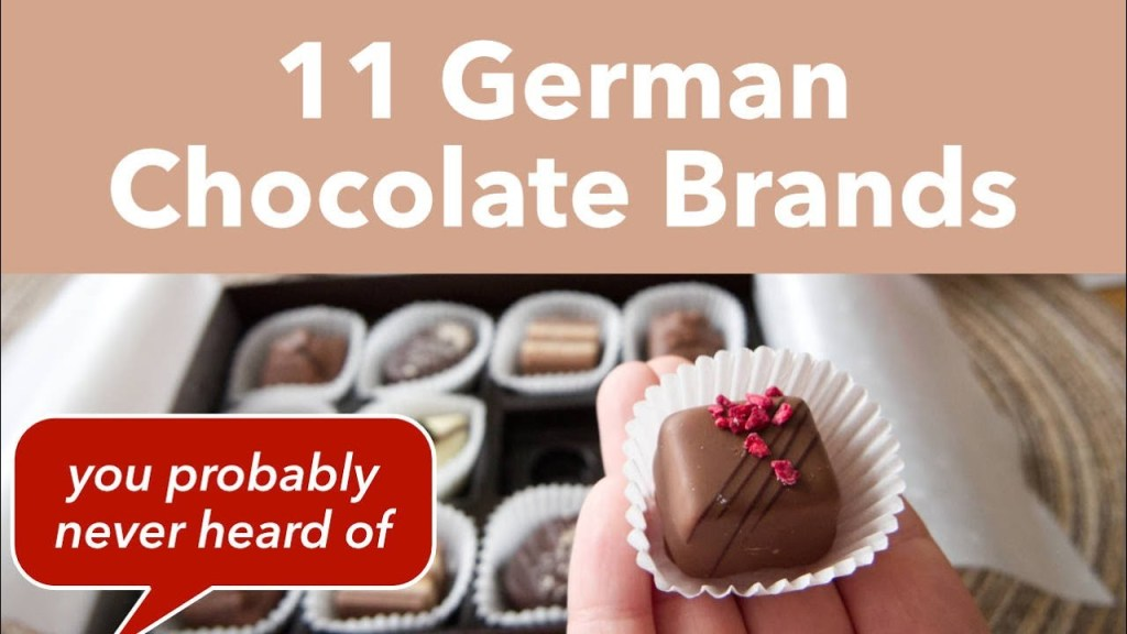 Read more about the article 11 German Chocolate Brands – German Chocolate Candy