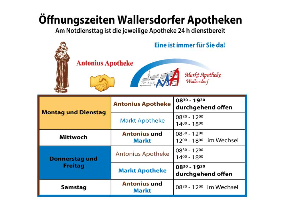 Öffnungszeiten Arzneiland Wallersdorfer Apotheken